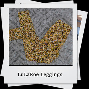 NWOT | Black, White and Gold LuLaRoe Leggings